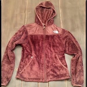 The North Face Womens Small P Maroon Red Fleece